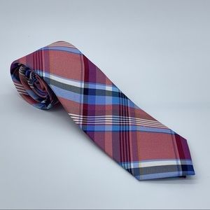 Tommy Hilfiger Red Barbecue Silk Plaid Tie